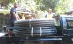 Pengagkutan pipa HDPE