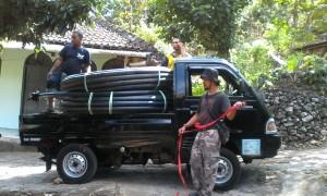 Pengagkutan pipa HDPE 2